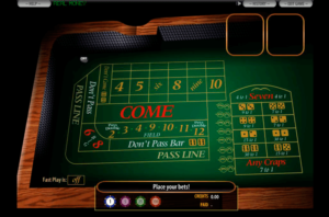 online mobile craps strategy