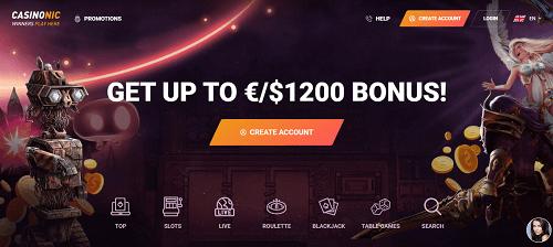CasinoNic Casino Bonuses