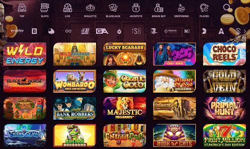 Casinonic Casino Games Lobby