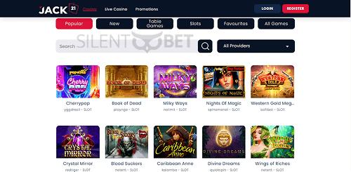 Best Jack21 Casino Games